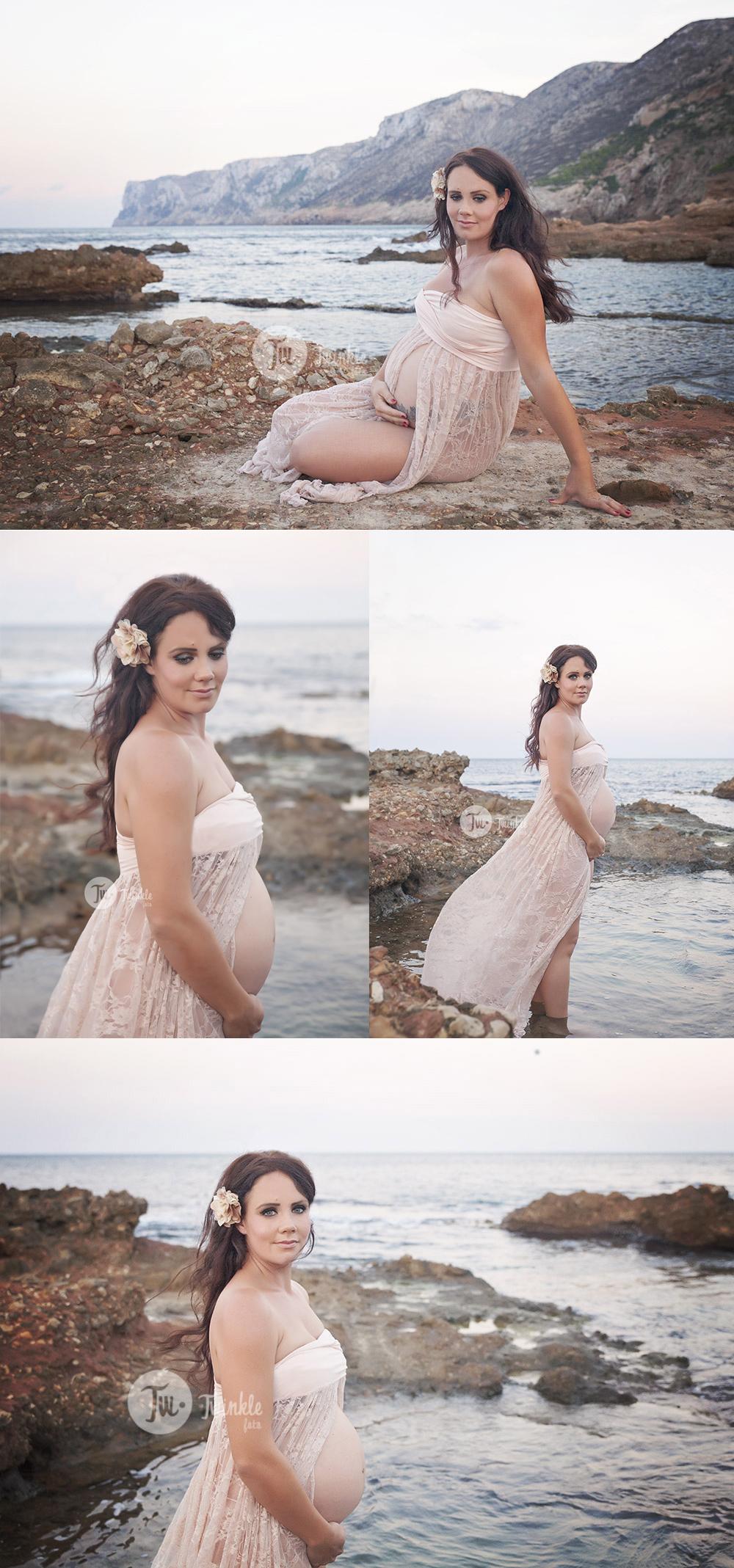 foto embarazada playa exteriores