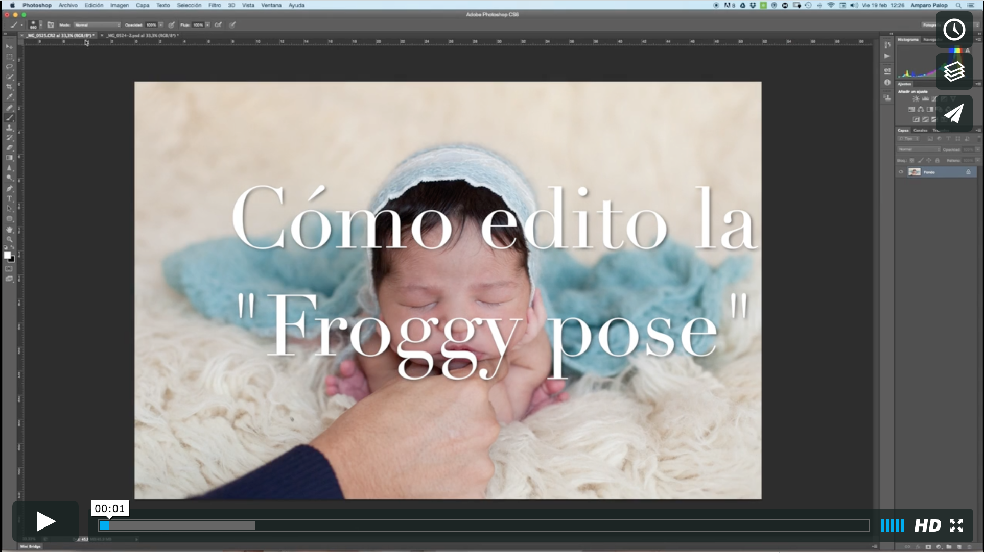 VIDEO EDICIÓN PHOTOSHOP – POSE DE LA RANITA