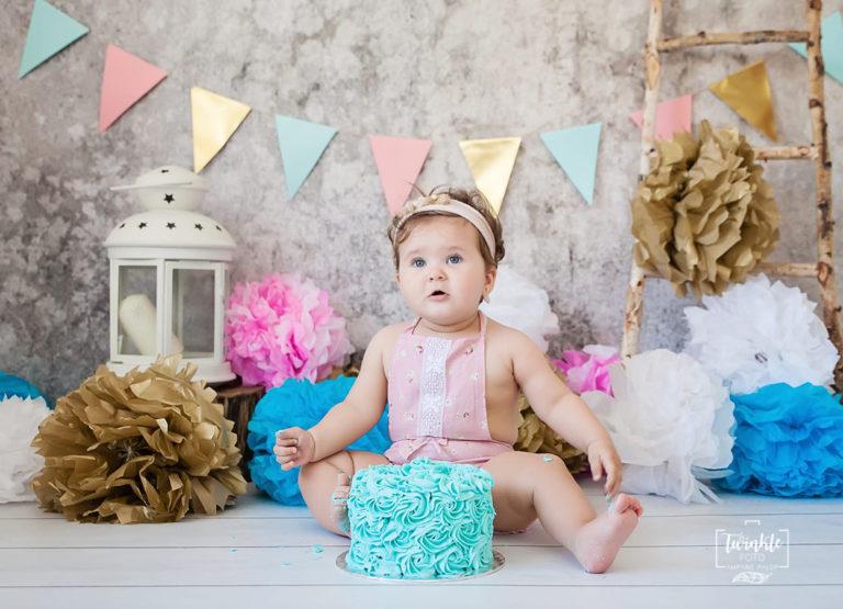 sesion de fotos con tarta cumpleaños cake smash valencia